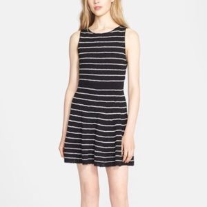 Alice & Olivia Monah Black Stripe Knit Dress